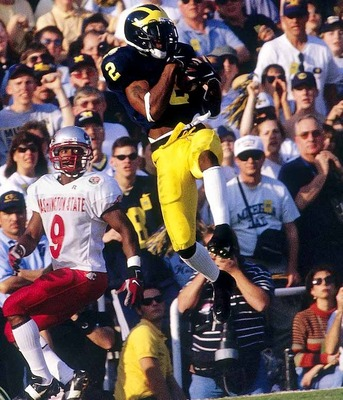 Charles Woodson is making a great play vs Wazzu, but would he have done it versus Nebraska?