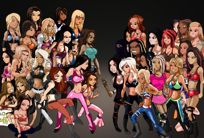 Wwe_divas_vs_tna_knockouts_by_inthedoorway_crop_650x440