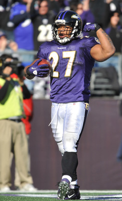 Ray Rice after scoring one of three touchdowns Sunday