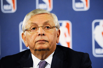 NEW YORK, NY - OCTOBER 04:  NBA Commissioner David Stern speaks at a press conference after NBA labor negotiations at The Westin Times Square on October 4, 2011 in New York City. Stern announced the NBA has canceled the remainder of the preseason and will