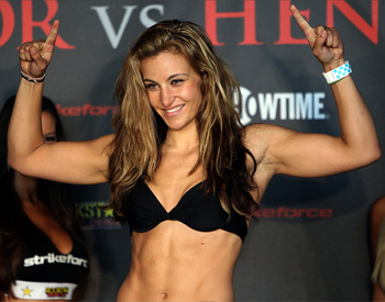 Strikeforce women's bantamweight champion Miesha Tate.