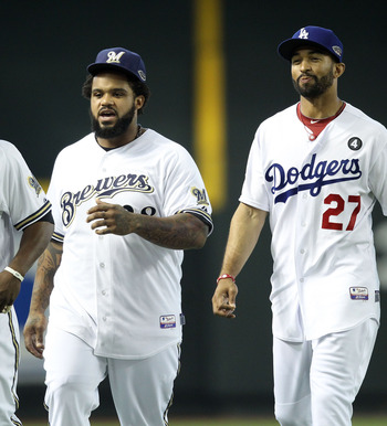 Prince Fielder (L) and Matt Kemp at the All-Star events in Phoenix last July.