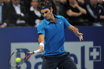 Roger Federer, World n4, playing in Basel on November 2011