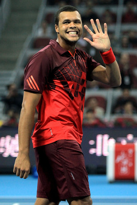 Jo Wilfried Tsonga in Shanghai, in October 2011