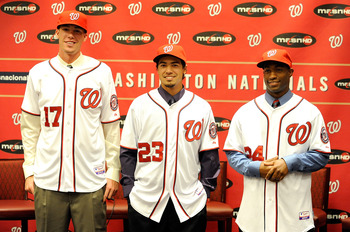 Bryce Harper may get all the attention, but the Nats have another budding superstar in Anthony Rendon (center).