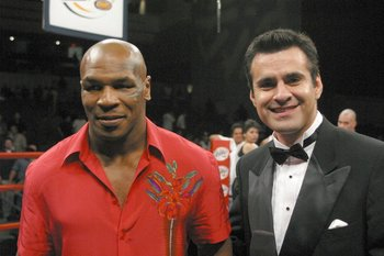 Lupe Contreras with Mike Tyson