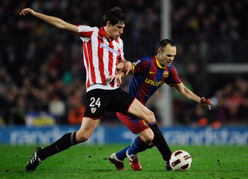 Biesla may deploy Javi as a centreback at Bilbao, but his natural position is in midfield