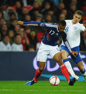 M'Vila in action against England
