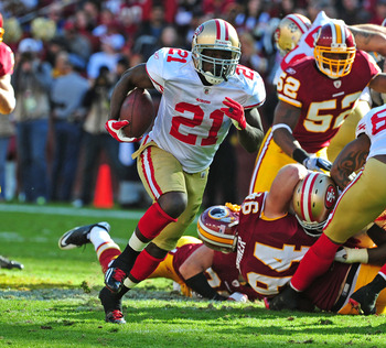 Frank Gore gains big yardage against the Redskins