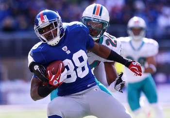 Hakeem Nicks leads the Giants in receptions