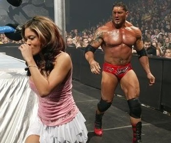 He wasn't just chasing her around the ring... Source - http://www.pimpmyspace.org/comments/code/408698/