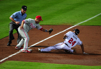 Michael Bourn has given the Braves their first real threat on the basepaths since Kenny Lofton.