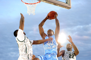 Harrison Barnes scored 17 points in the Carrier Classic against Michigan State.
