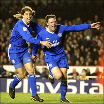 Never would Wayne Bridge score such an important goal.
