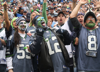 Seahawks fans, CenturyLink Field, Seattle