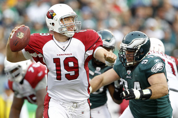 John Skelton threw three touchdown passes against the vaunted Eagles secondary