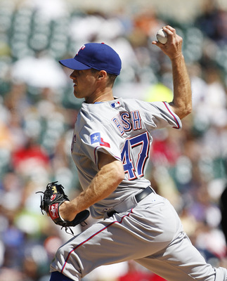 Dave Bush pitched for the Rangers in 2011