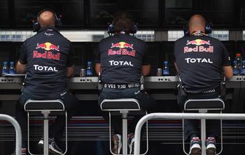 Red Bull Racing brainstrust at work