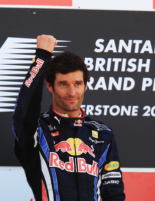 "Mark Webber, ""No 2 Driver"", in winning way at Silverstone"