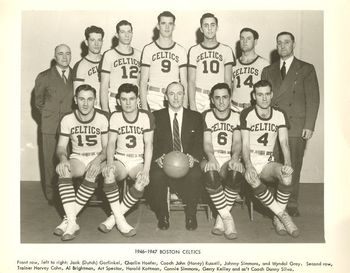 The 1946-7 Celtics - in the days before crossovers and high flyers.
