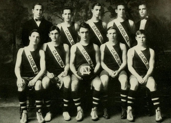 The 1911 North Carolina Tar Heel basketball team.