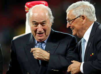 "An old friend reminds Sepp of a joke: ""you're the head of FIFA."""