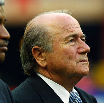 Blatter was saddened by the news that his plan to ban goalkeepers had been rejected.