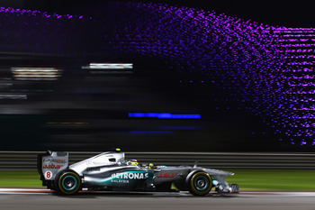Rosberg at the spectacular Yas Marina complex