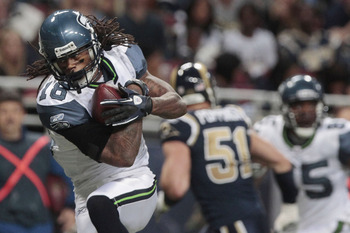 Sidney Rice's reception put the first 6 points on the board for Seattle.