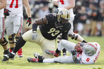 Even Purdue's front seven was able to bottle up the Buckeye rushing attack