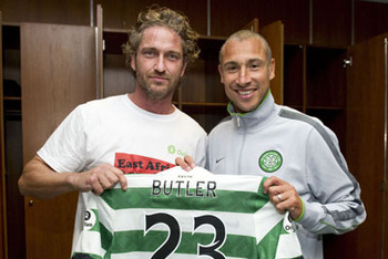 Gerard Butler, Celtic Fan