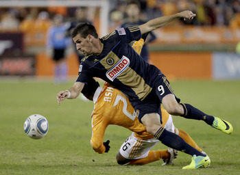 Sebastien Le Toux and the Philadelphia Union had a much-improved season but were eliminated to eventual MLS Eastern Conference Champions Houston Dynamo.