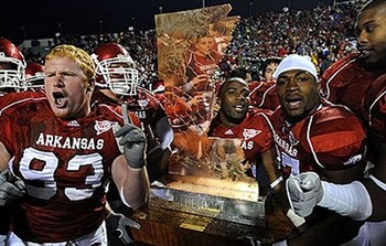 Arkansas has won the battle of the boot quite a few times in recent years.