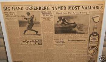 Greenberg was Big News Again in 1940