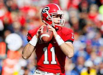 Aaron Murray and the Bulldogs hope to avoid a big upset at the hands of Georgia Tech on Saturday
