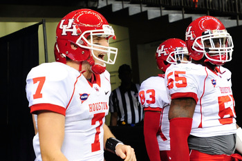 Case Keenum and the Cougars are likely going to play in a BCS game, barring an upset at the hands of Tulsa