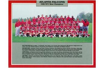 The Atlanta Falcons made the playoffs for the first time in 1980.