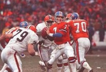 """The Drive"" led by Denver quarterback John Elway downed the Browns in the 86-87 AFC Championship Game."
