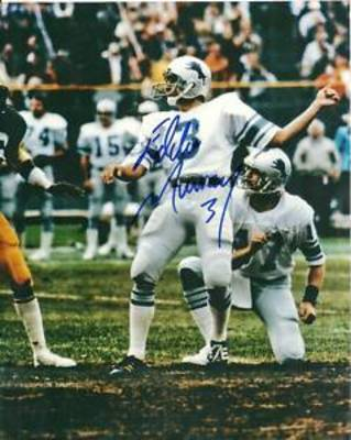 Pictured is former NFL Kicker Eddie Murray. Wth his Lions down late he missed a potential game winning Field Goal as time expired.