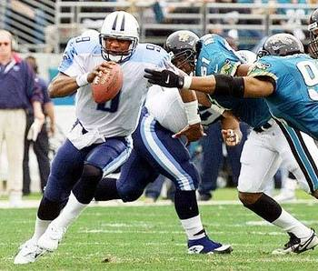The Titans defeated the Jaguars 3 different times in the 99-00 Season. The 3rd time occurred in the AFC Championship game that very same season.