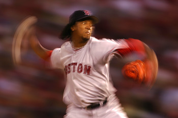 Sometimes all the batters saw was a blur with Pedro on the hill.