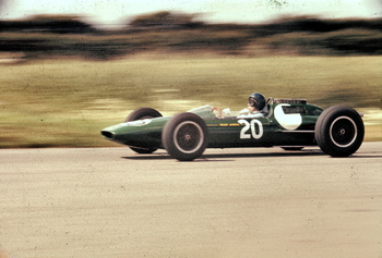 Jim Clark at Aintree in 1962.