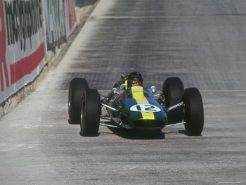 Jim Clark at Monaco in 1964