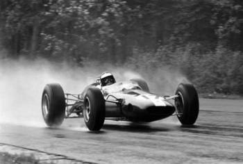 Jim Clark at Spa in 1965.