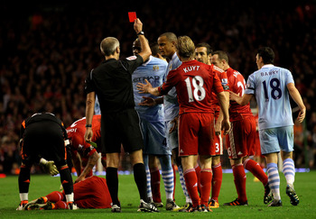 Balotelli was sent off during the weekend