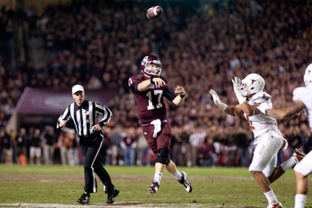 Texas A & M quarterback Ryan Tannehill could be an intriguing option in the second round.