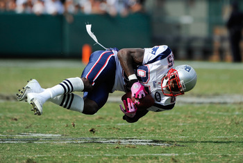 New England Patriots wide receiver Chad Ochocinco hasn't caught more than 75 passes since 2007.