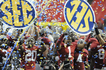 Bama won the inaugural SEC championship game 28-21