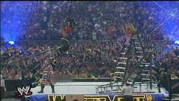 Spear to Jeff Hardy off Lader