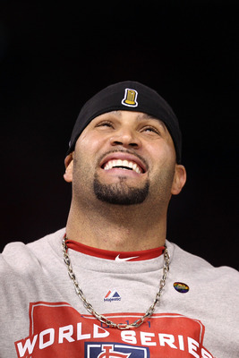 Pujols, moments after someone asked if he'd sign for 20 million per year...